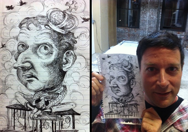 Josh Harris by Molly Crabapple