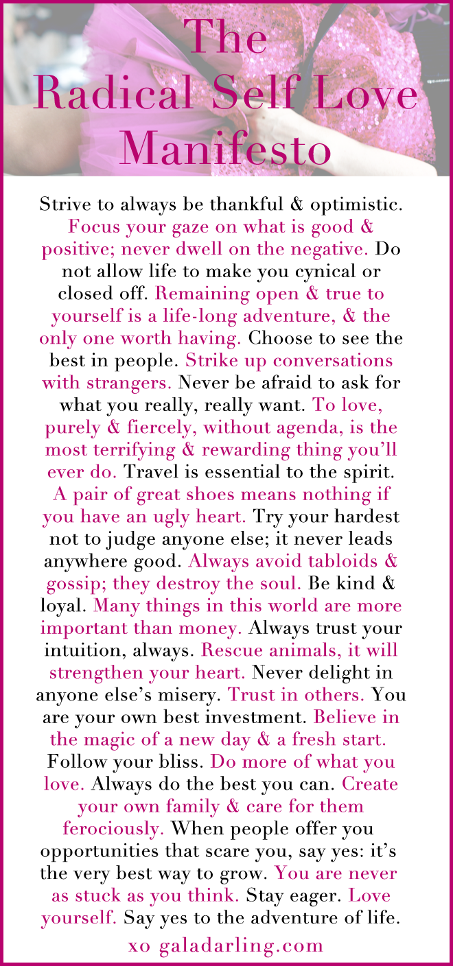 The Radical Self Love Manifesto!